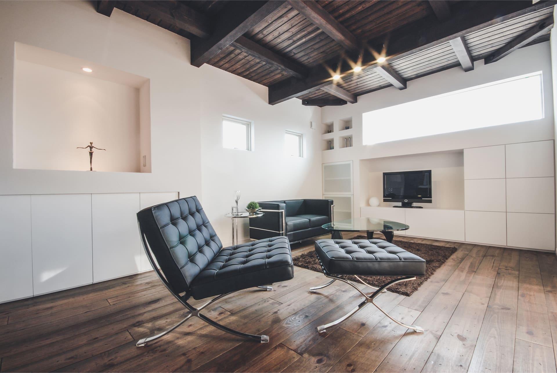 シンプルなハコのお家